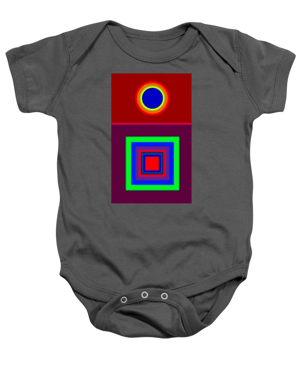 Classical Baby Onesie featuring the painting Red Classic by Charles Stuart
