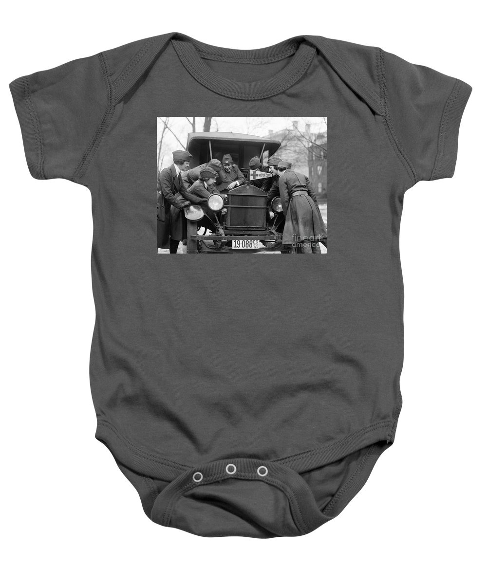 1920 Baby Onesie featuring the photograph Red Cross, C1920 by Granger