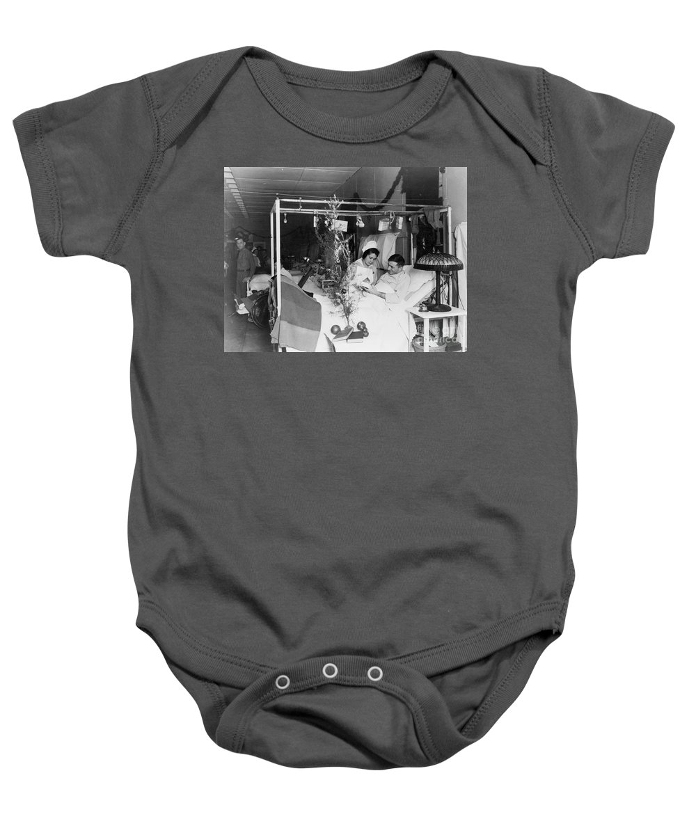 1915 Baby Onesie featuring the photograph Red Cross: Christmas by Granger