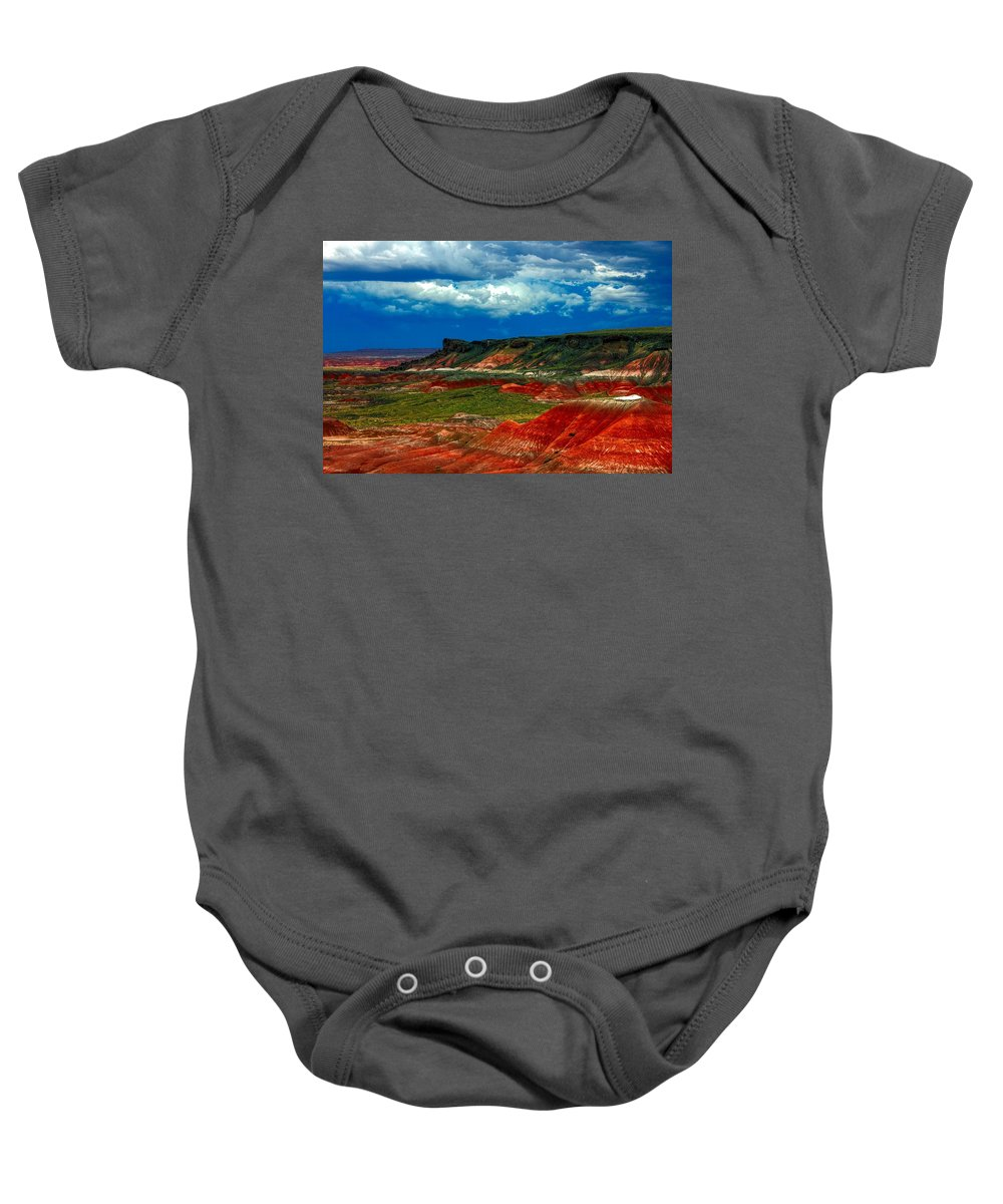 Desert Baby Onesie featuring the photograph Red Desert by Robert Cox