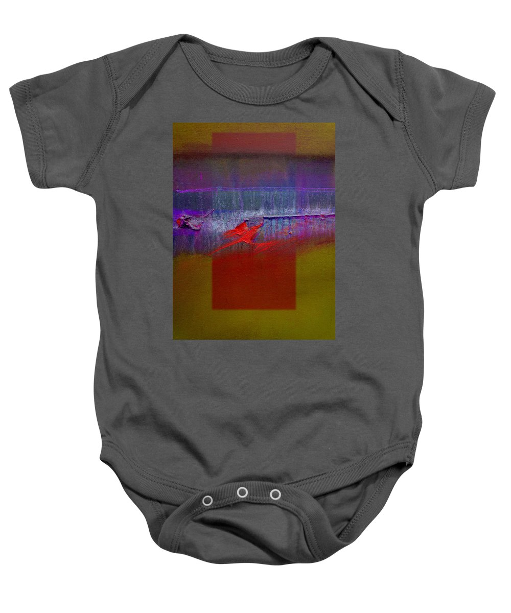 Landscape Baby Onesie featuring the painting Red Dragon Autumn by Charles Stuart
