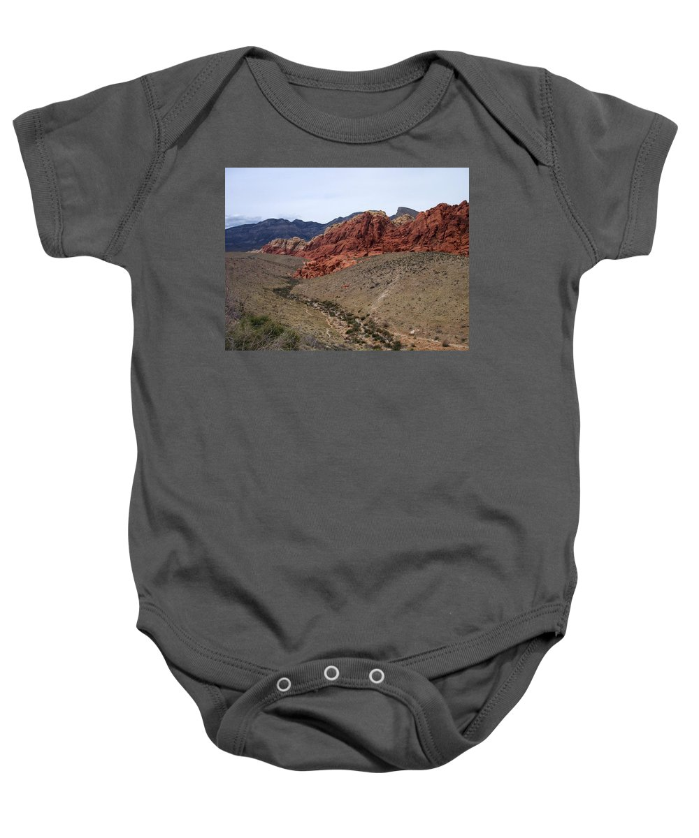 Red Rock Canyon Baby Onesie featuring the photograph Red Rock Canyon 1 by Anita Burgermeister
