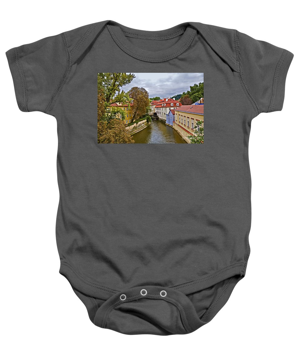 Prague Baby Onesie featuring the photograph Red Roofs Of Prague by Madeline Ellis
