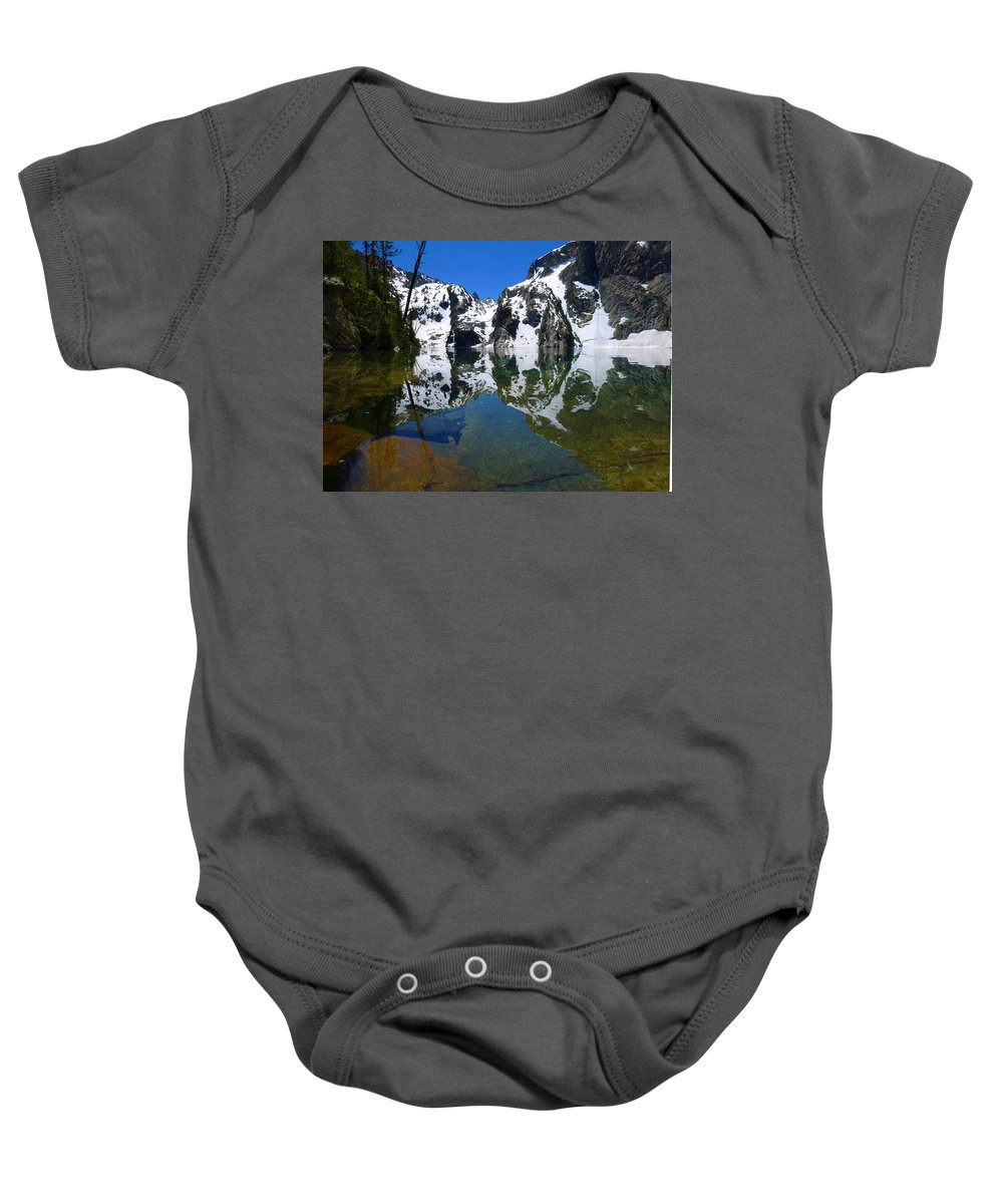 Goat Lake Baby Onesie featuring the photograph Reflected Faces by Dan Dixon