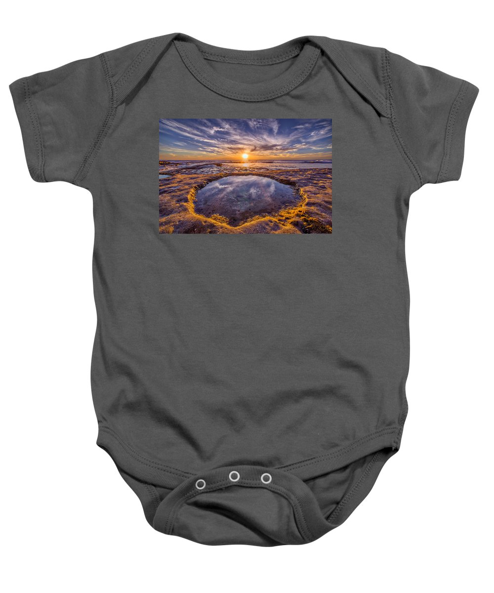 Beach Baby Onesie featuring the photograph Reflecting Pool by Peter Tellone