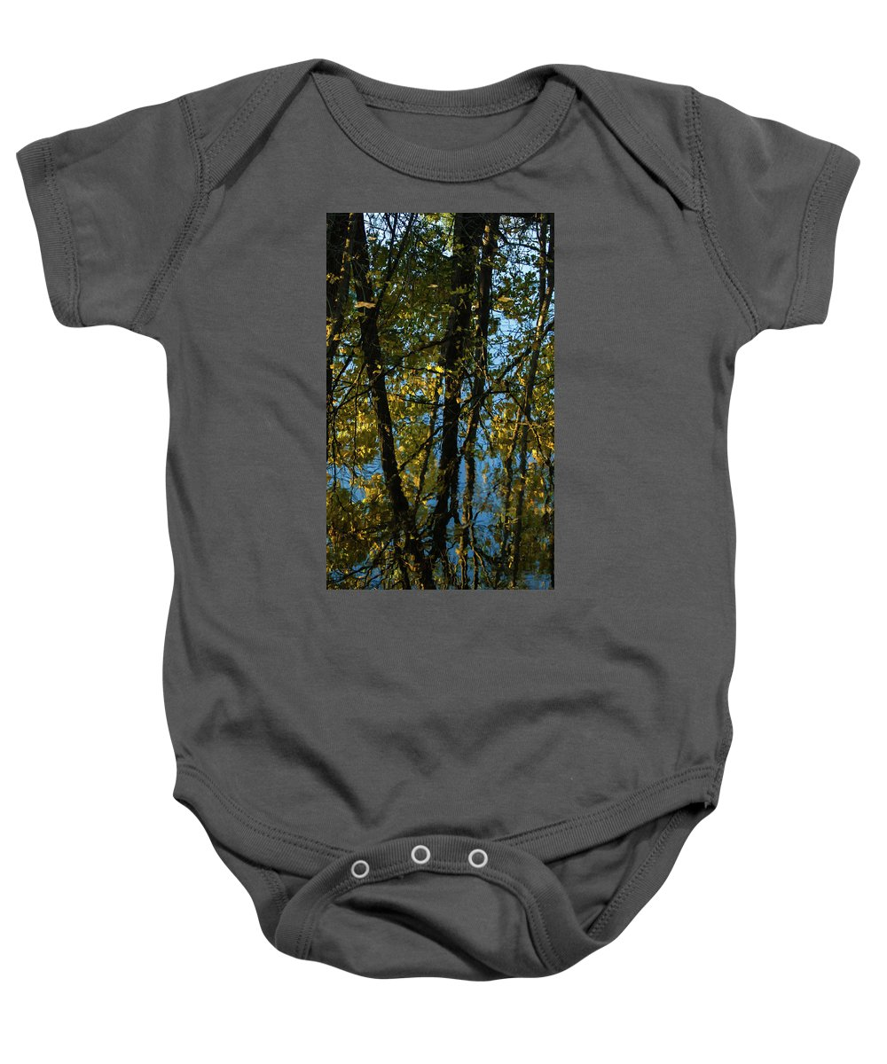 Reflection Baby Onesie featuring the photograph Reflections Fall by Kevin Myron