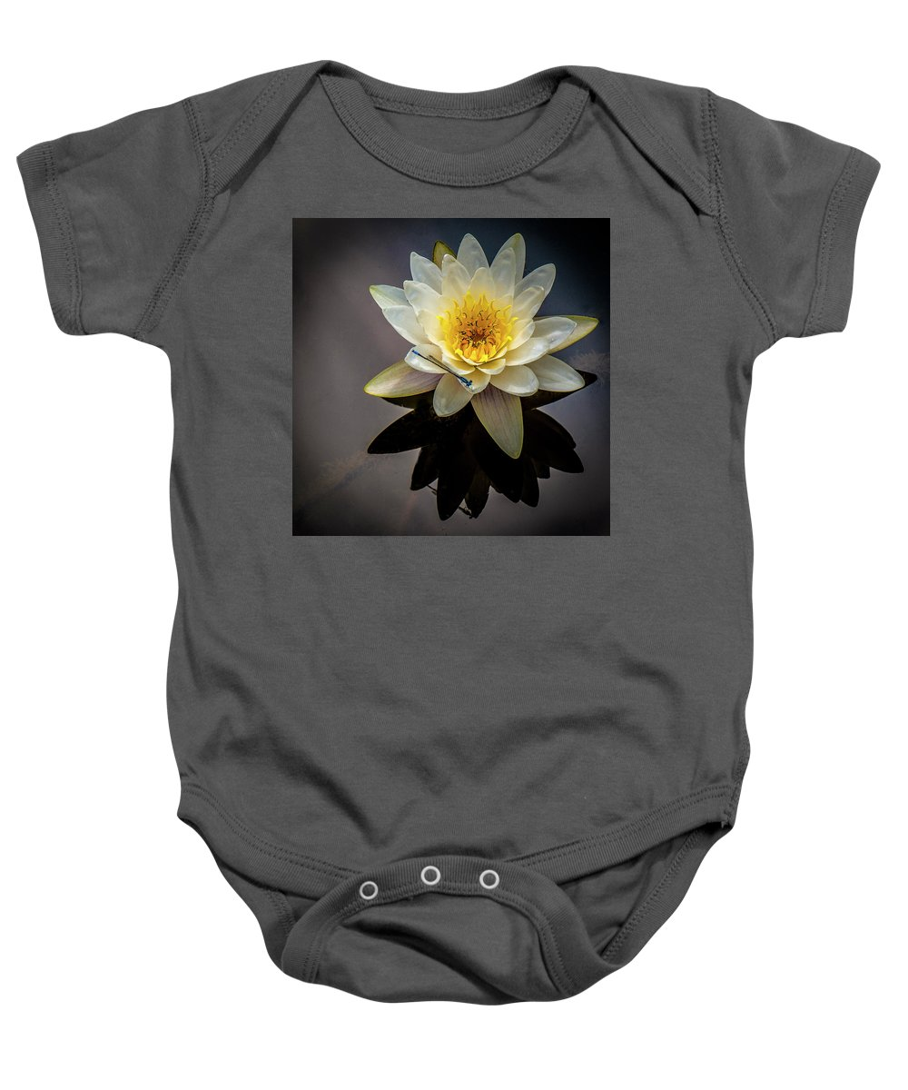 Pond Baby Onesie featuring the photograph Reflections In A Pond by Neil Doren