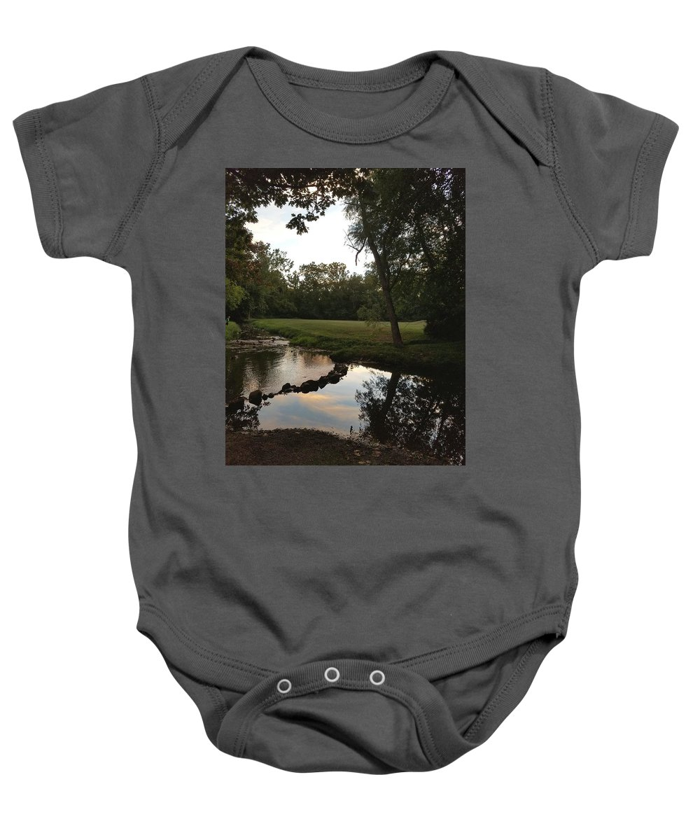 Clouds Baby Onesie featuring the photograph Reflections by Michelle Dowd