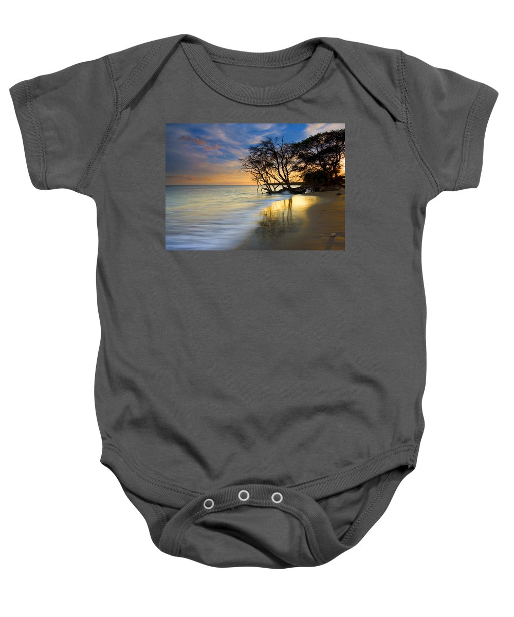 Waves Baby Onesie featuring the photograph Reflections Of Paradise by Mike Dawson