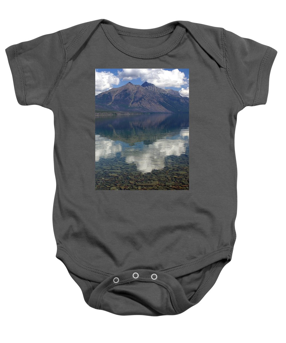 Lake Baby Onesie featuring the photograph Reflections On The Lake by Marty Koch