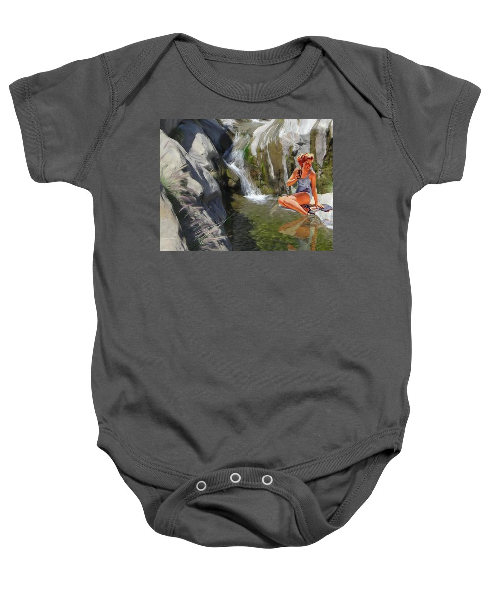 Deserts Baby Onesie featuring the digital art Refreshments by Snake Jagger