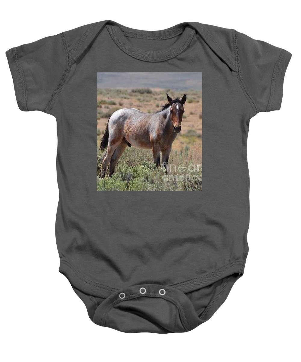 Wild Horse Baby Onesie featuring the photograph Refuge by Abby Ocker