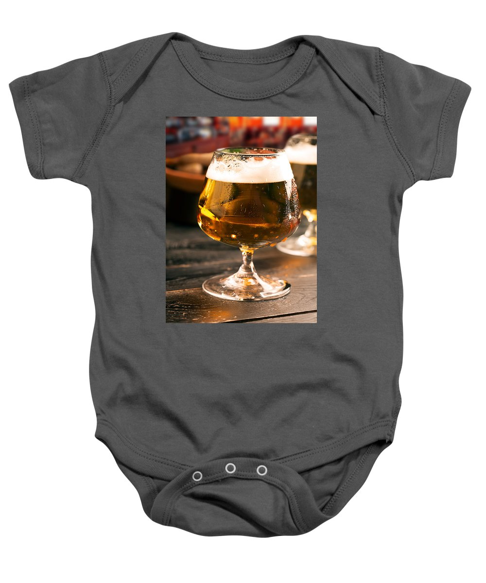 Vadim Goodwill Baby Onesie featuring the photograph Relax And Take A Sip Of Cold Beer by Vadim Goodwill