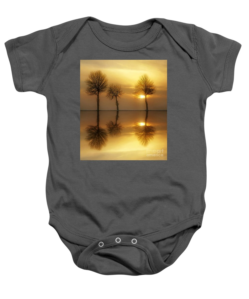 Sunset Baby Onesie featuring the photograph Remains Of The Day by Jacky Gerritsen