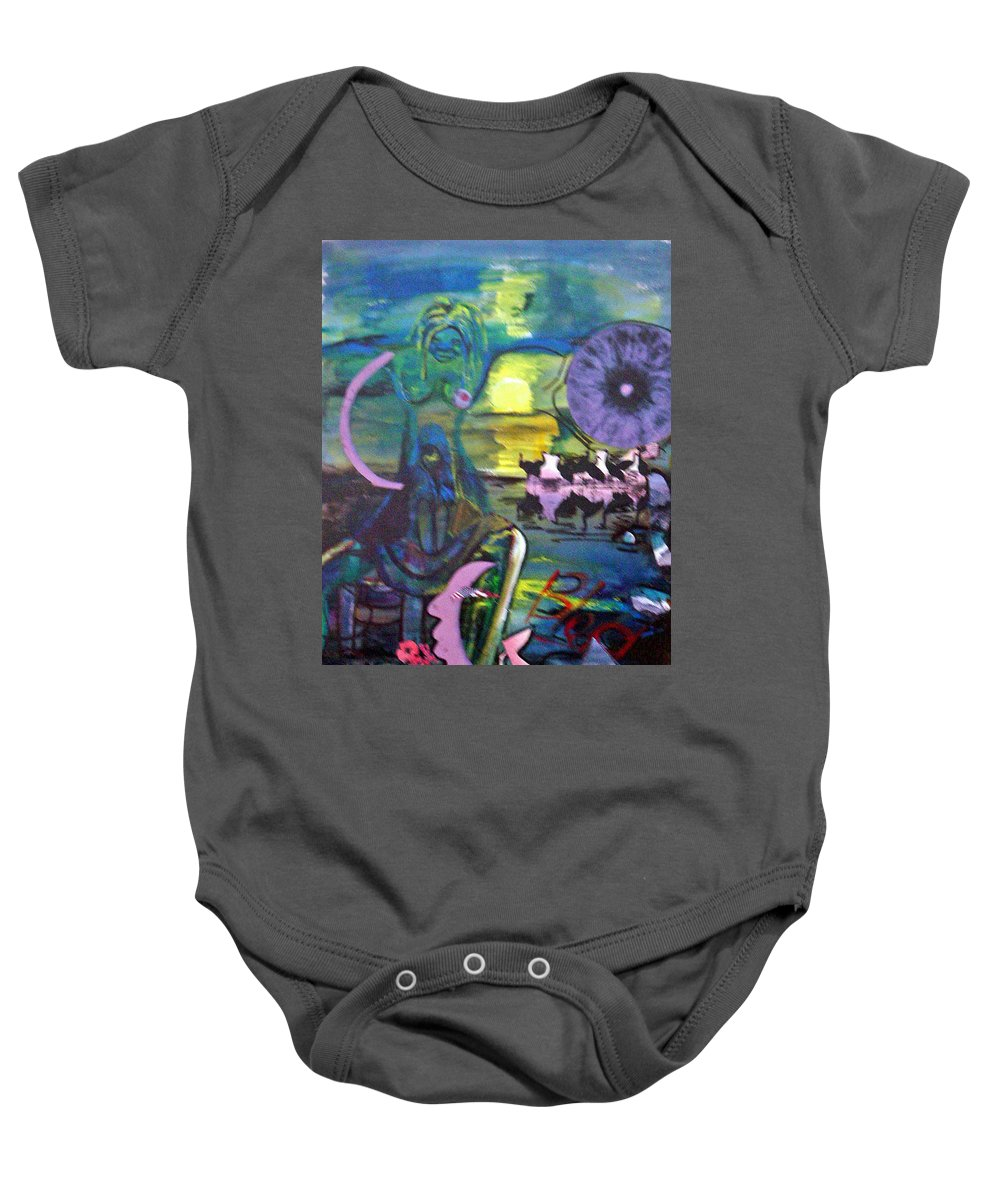 Water Baby Onesie featuring the painting Remembering 9-11 by Peggy Blood