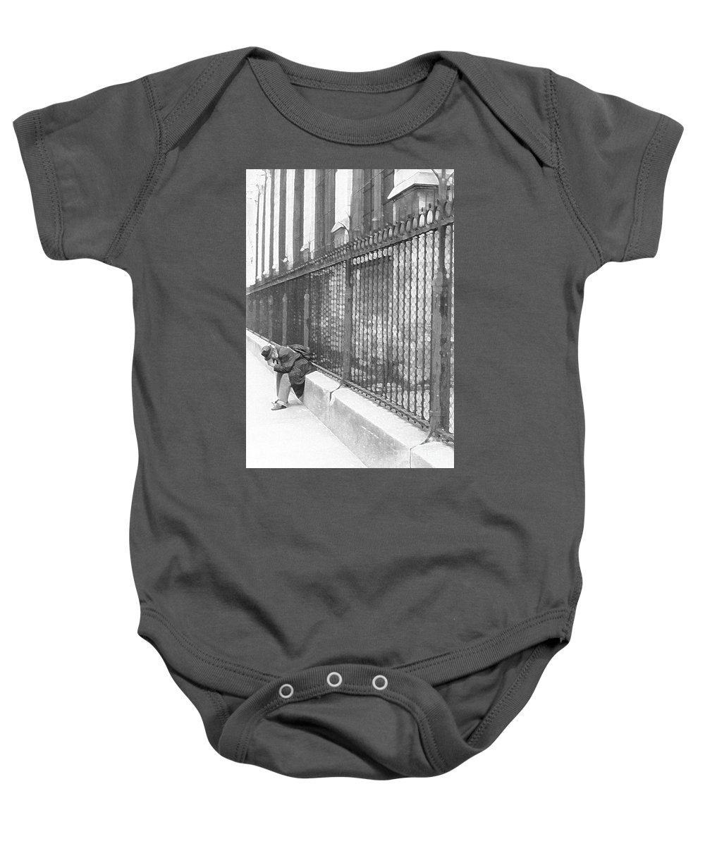 Notre Dame Baby Onesie featuring the photograph Remorse by Christine Jepsen
