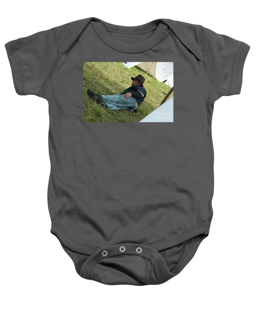 Civil War Baby Onesie featuring the photograph Resting by Tommy Anderson