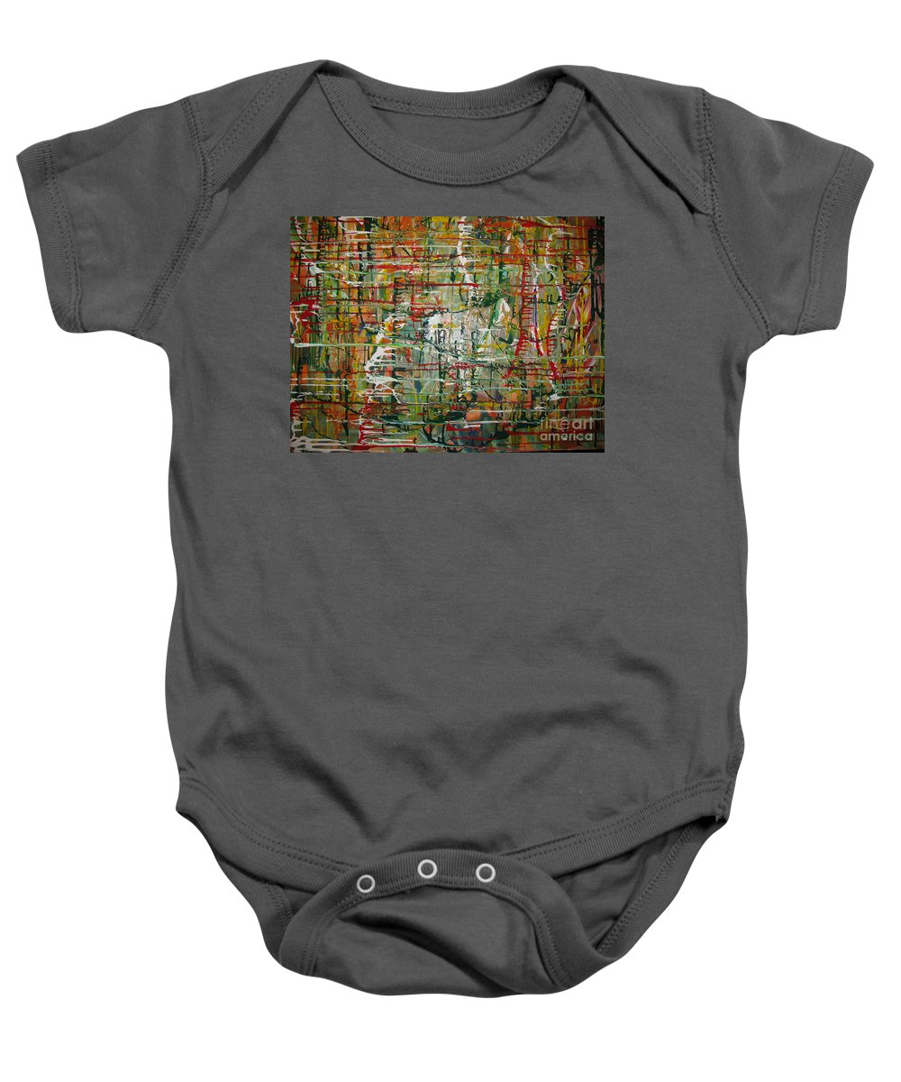 Freedom Baby Onesie featuring the painting Revelation by Jacqueline Athmann