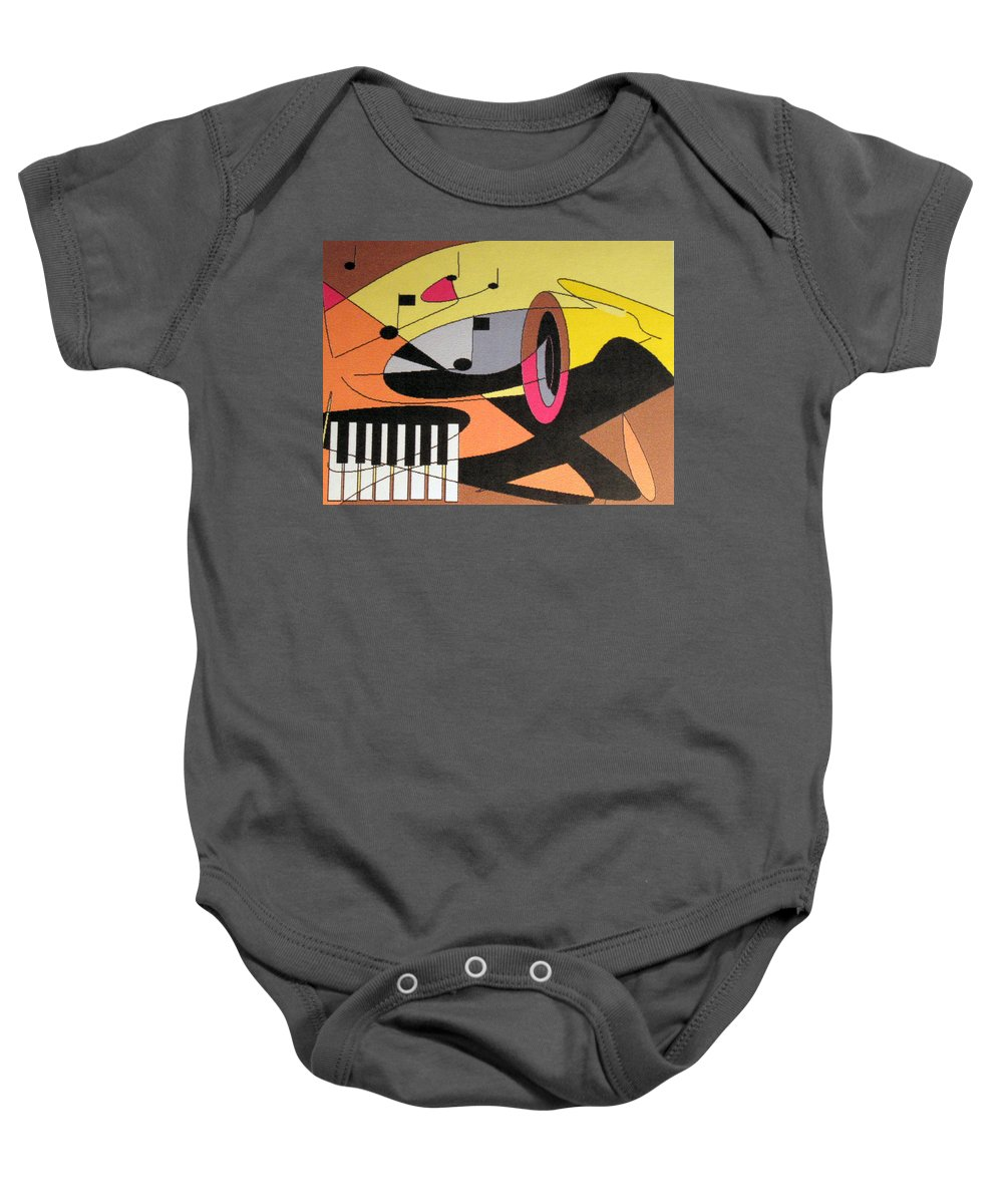 Music Baby Onesie featuring the digital art Rhapsody by Ian MacDonald