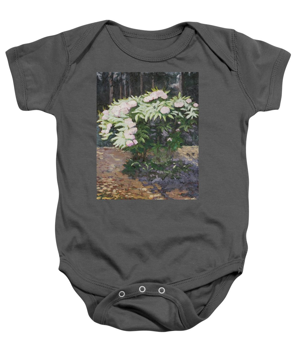 Rhododendron Baby Onesie featuring the painting Rhododendron by Craig Newland