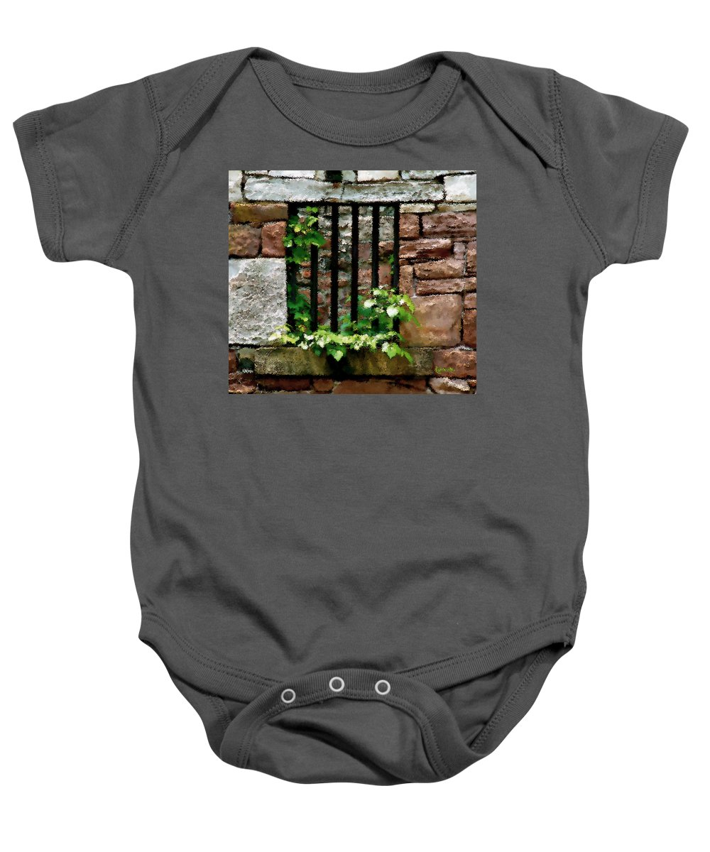 American History Baby Onesie featuring the digital art Rhus Radicans Triumphant by RC DeWinter