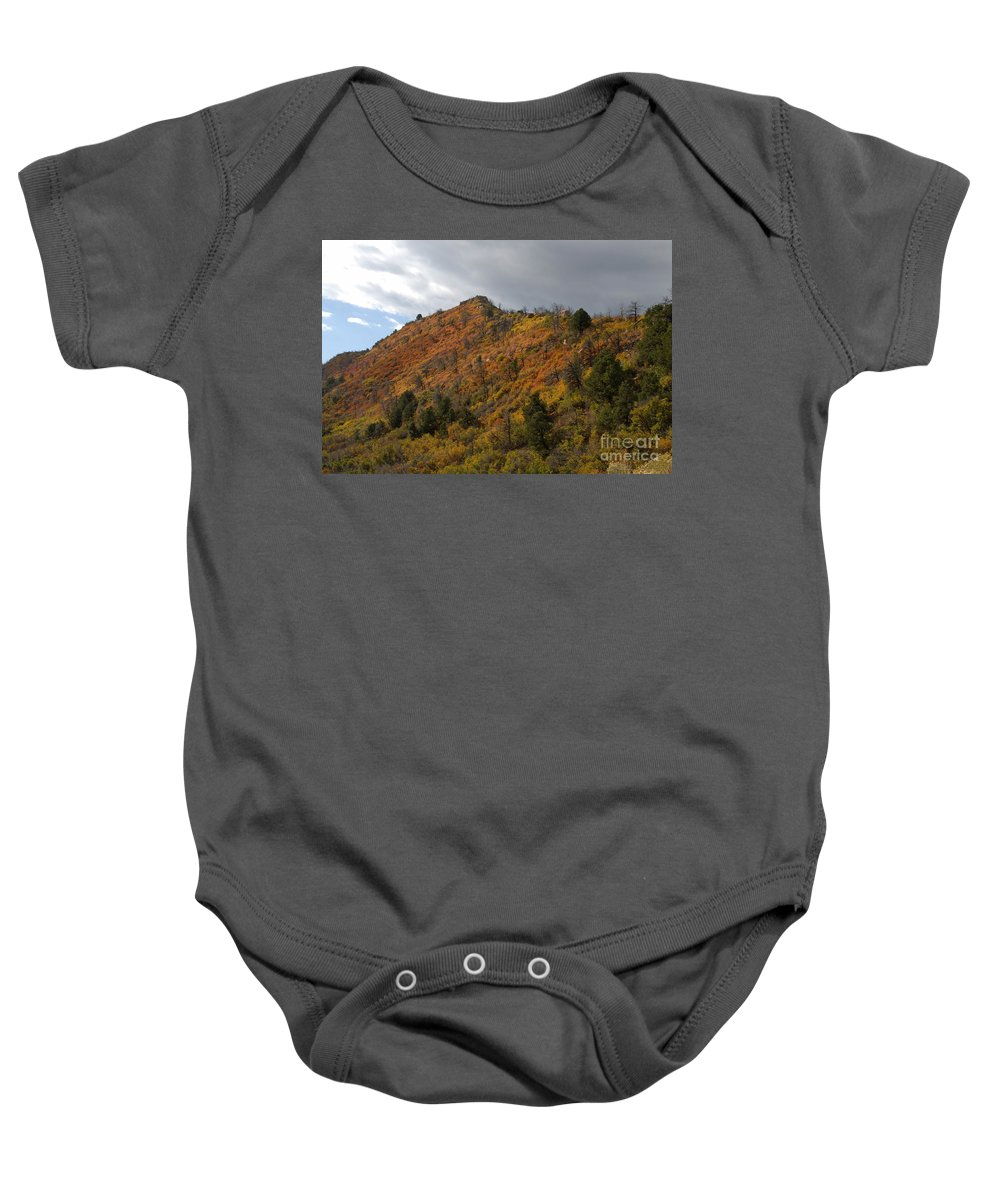 Landscape Baby Onesie featuring the photograph Ridge Line by David Lee Thompson
