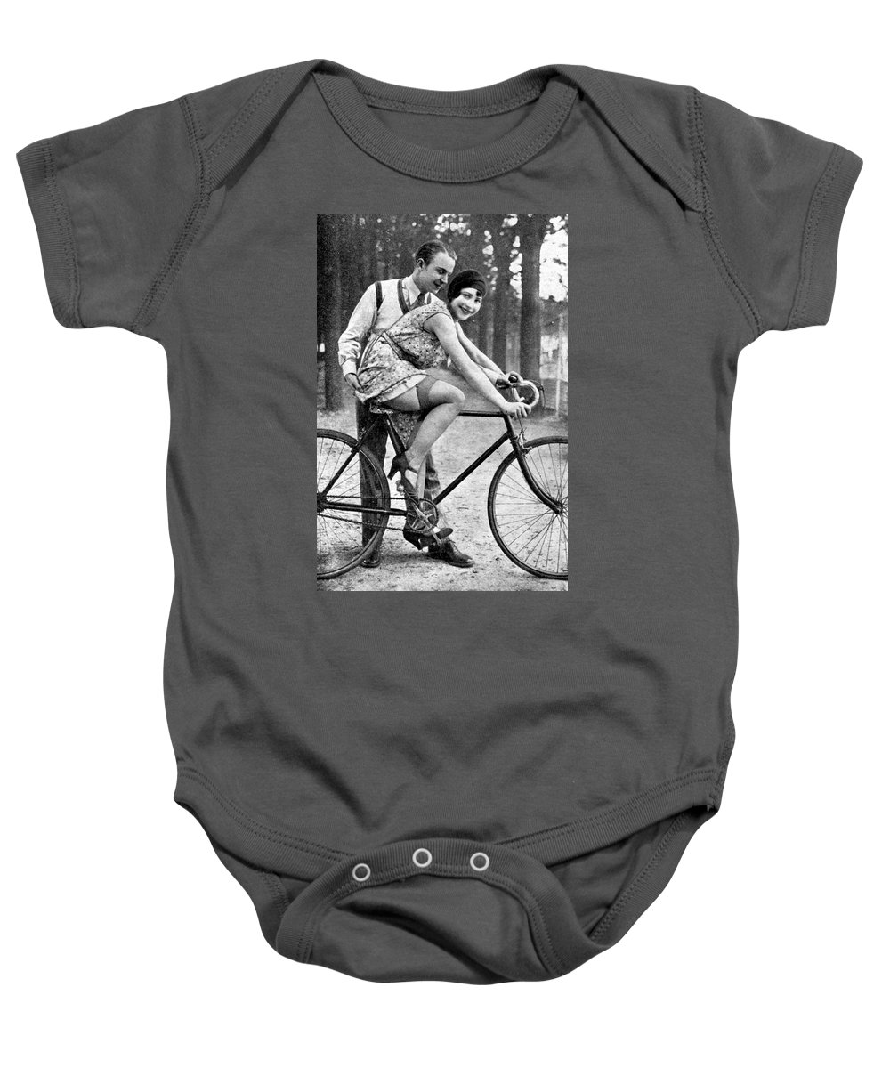 Girl Baby Onesie featuring the photograph Riding Bike Makes Sexy by Steve K