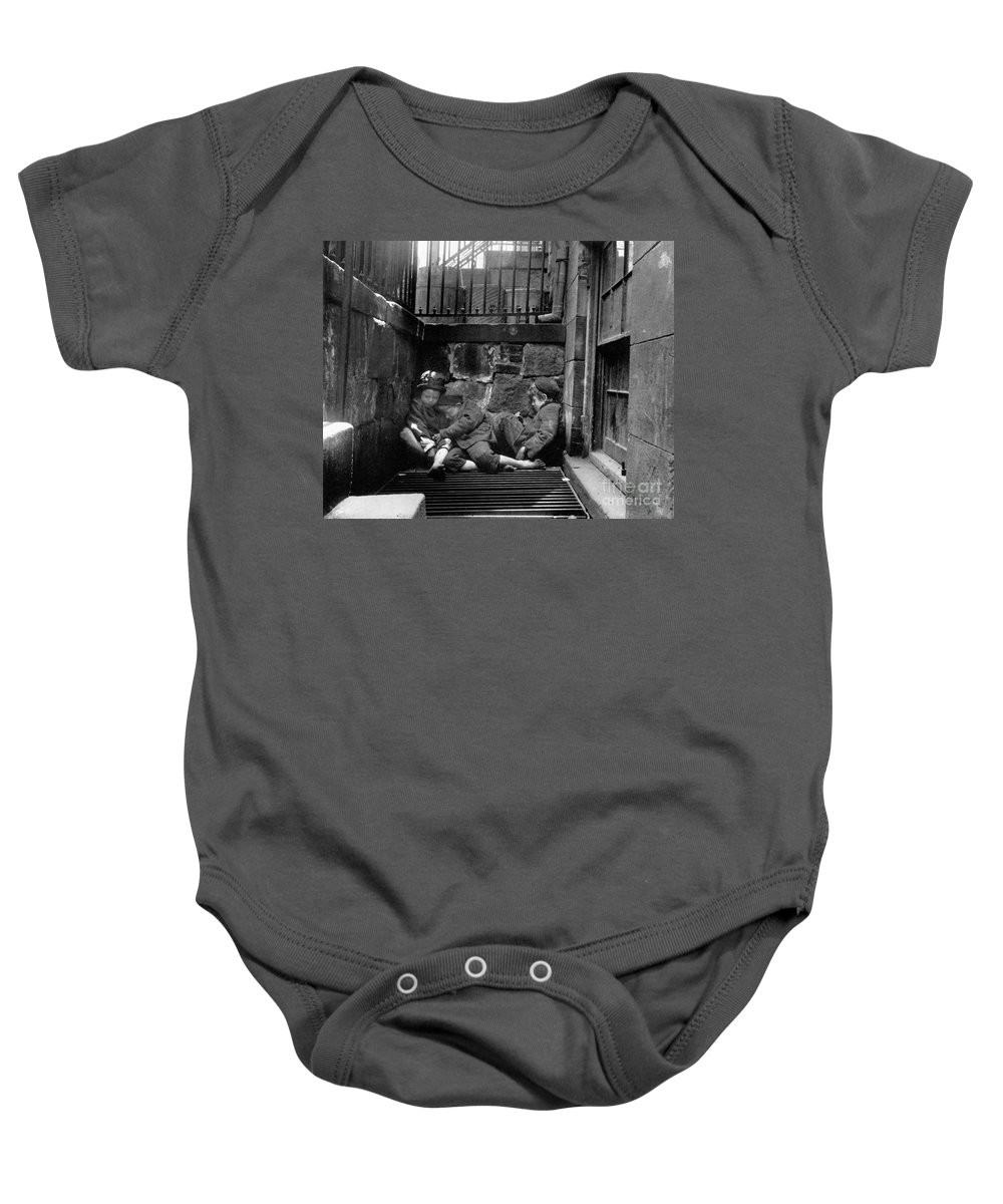1901 Baby Onesie featuring the photograph Riis: New York, 1901 by Granger