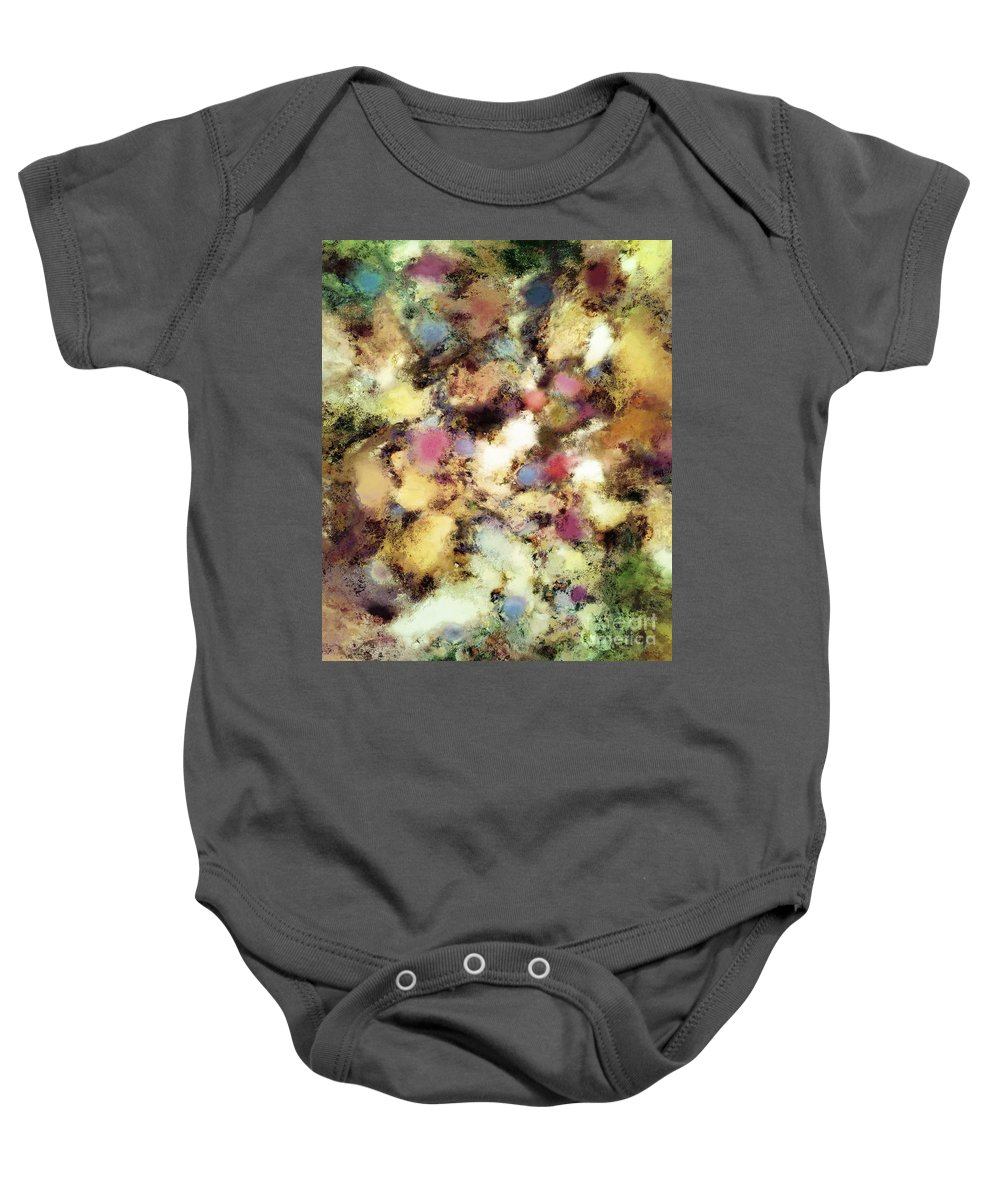 Rivers Baby Onesie featuring the digital art River Bed by Keith Mills