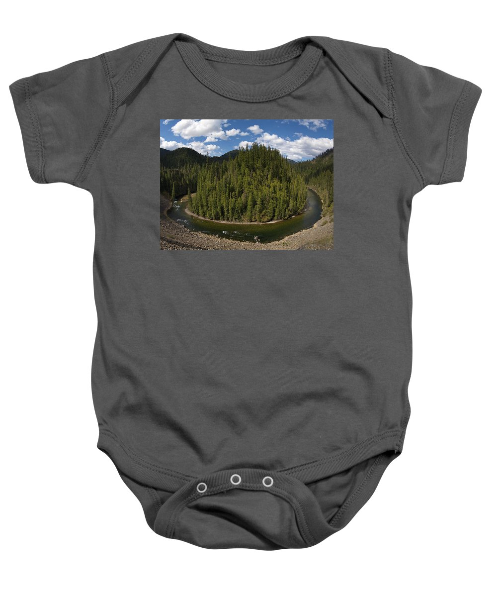 River Bend Baby Onesie featuring the photograph River Bend by Leland D Howard