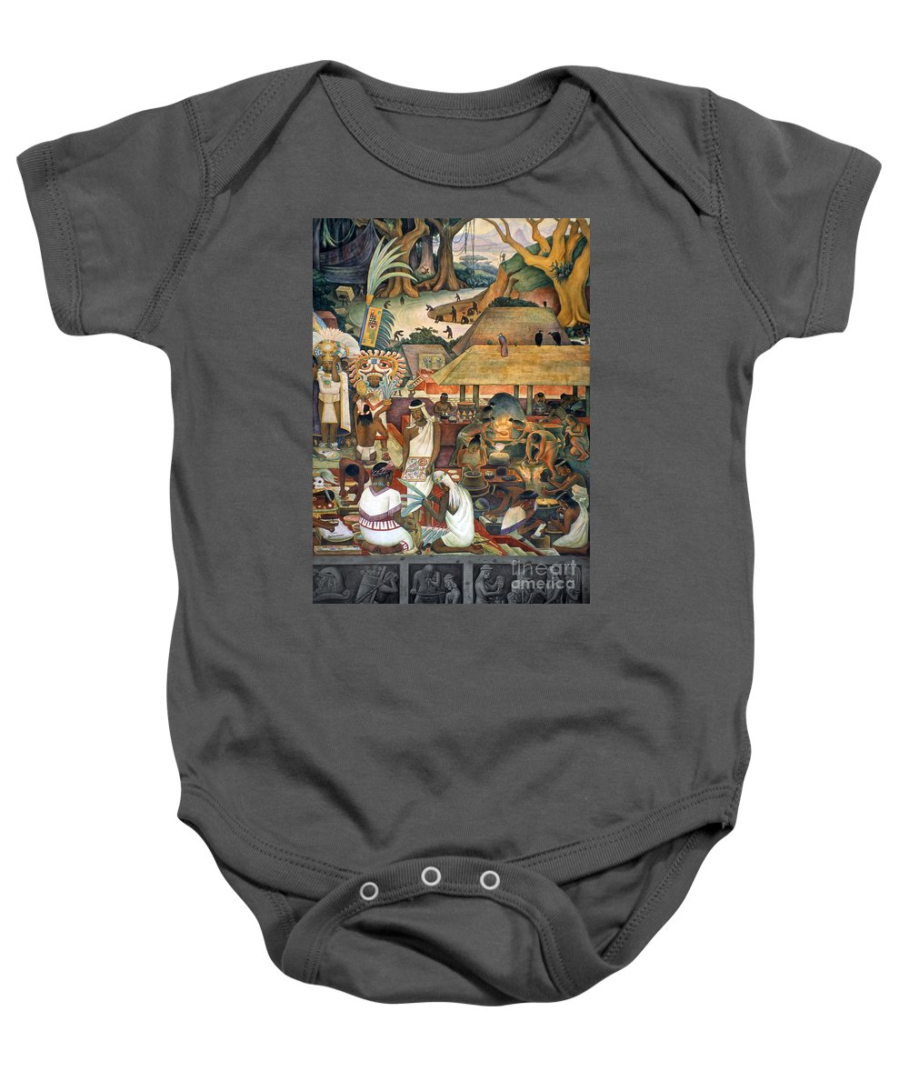 1925 Baby Onesie featuring the photograph Rivera: Pre-columbian Life by Granger