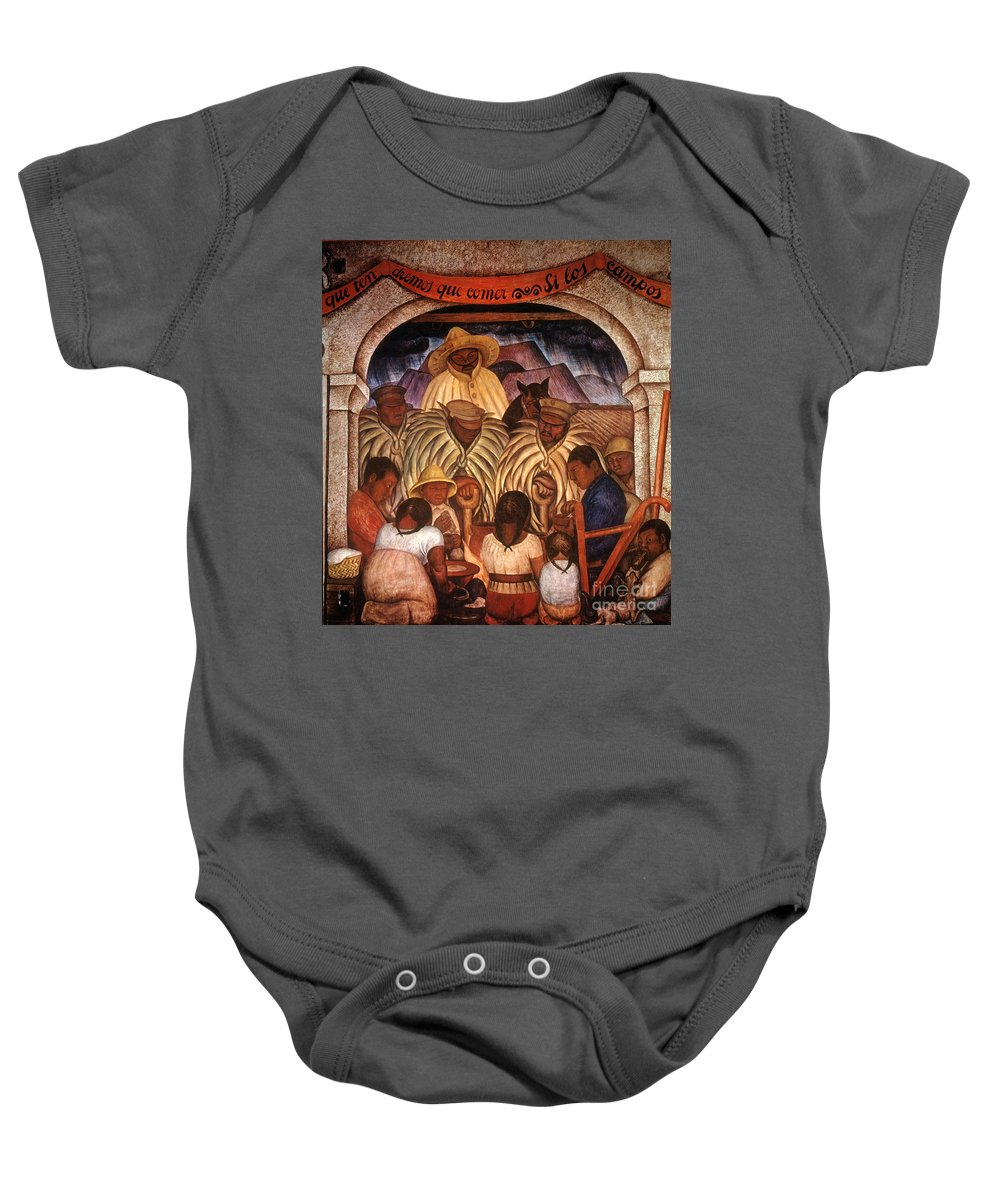 20th Century Baby Onesie featuring the photograph Rivera: Rain by Granger