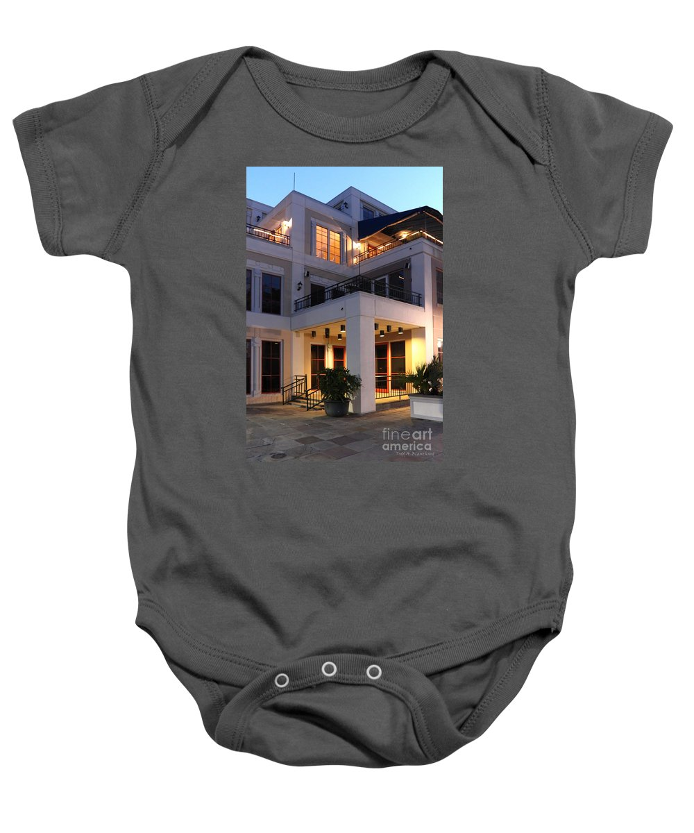 Architecture Baby Onesie featuring the photograph Riverfront Architecture by Todd Blanchard