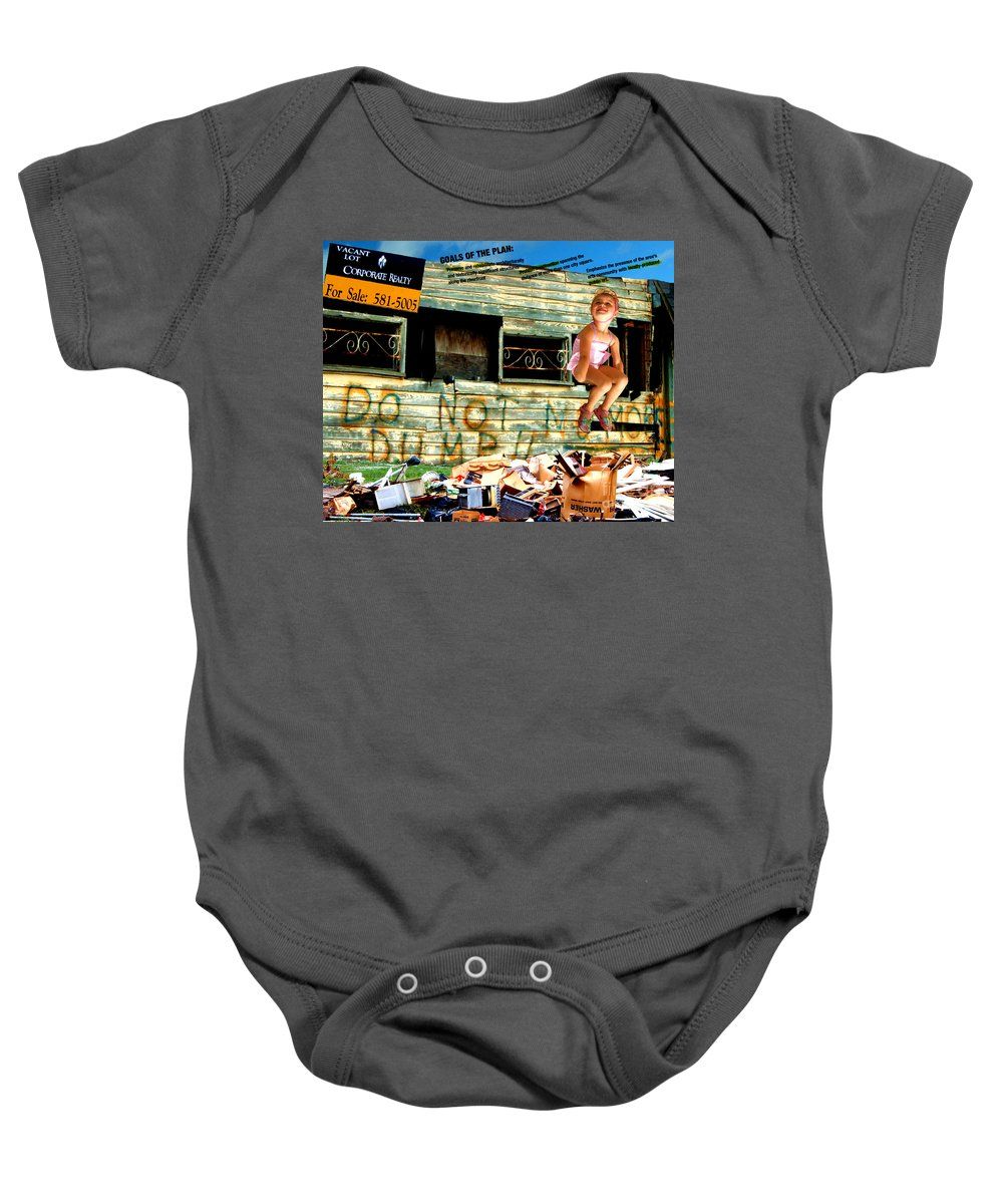 Riverfront Development Baby Onesie featuring the photograph Riverfront Visions by Ze DaLuz