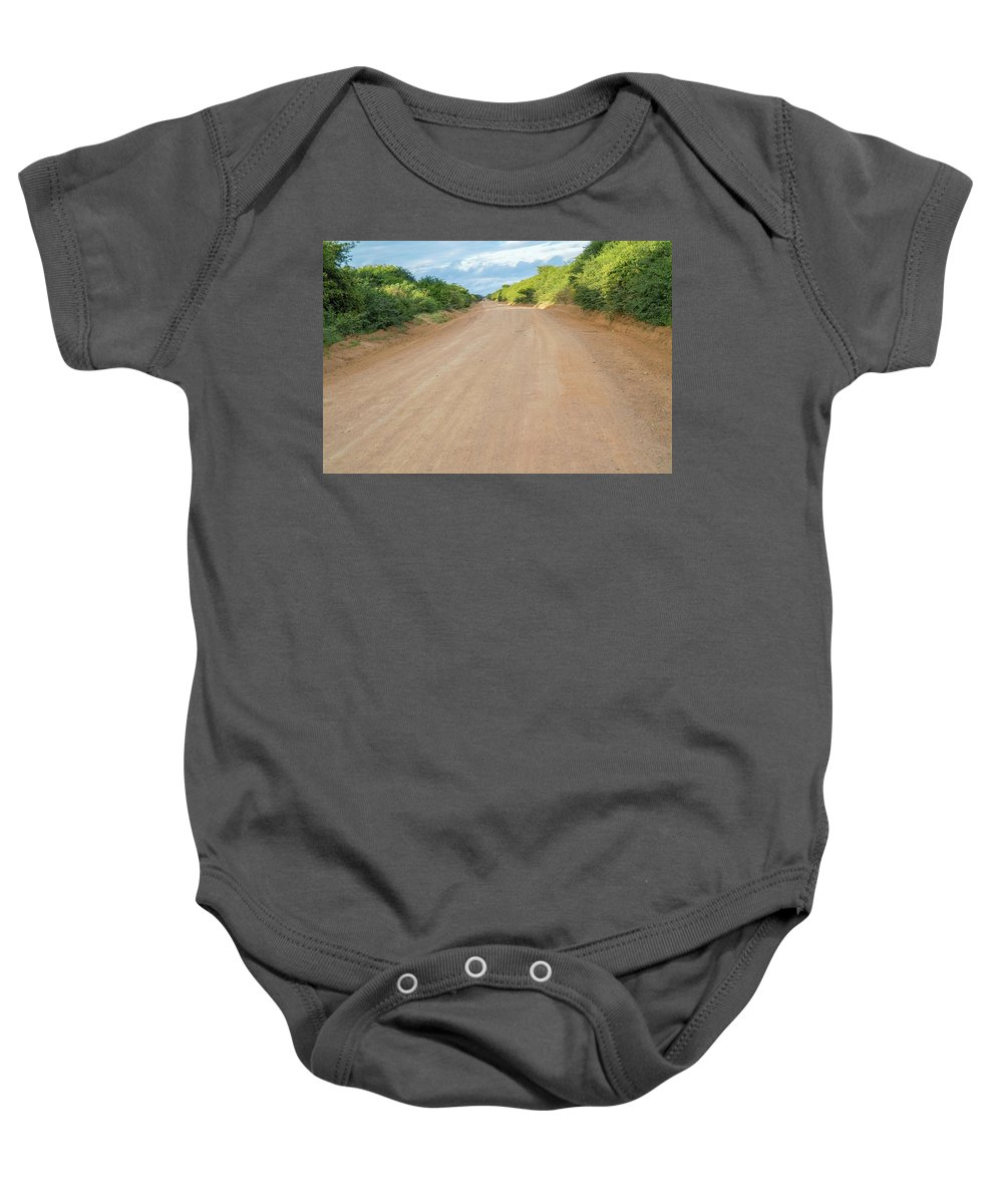 Muhesi Baby Onesie featuring the photograph Road In Tanzania by Marek Poplawski