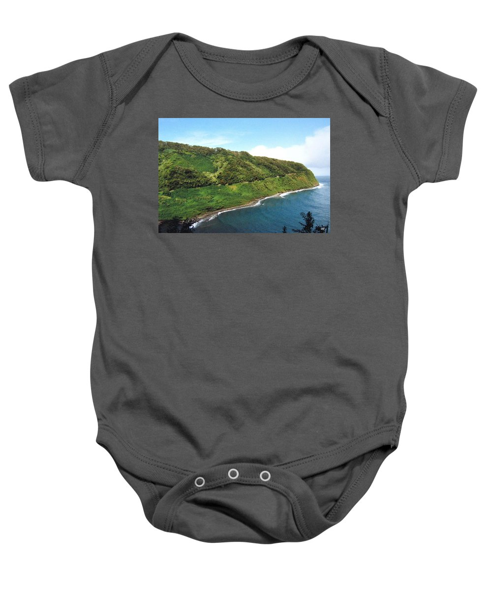 1986 Baby Onesie featuring the photograph Road To Hana by Will Borden