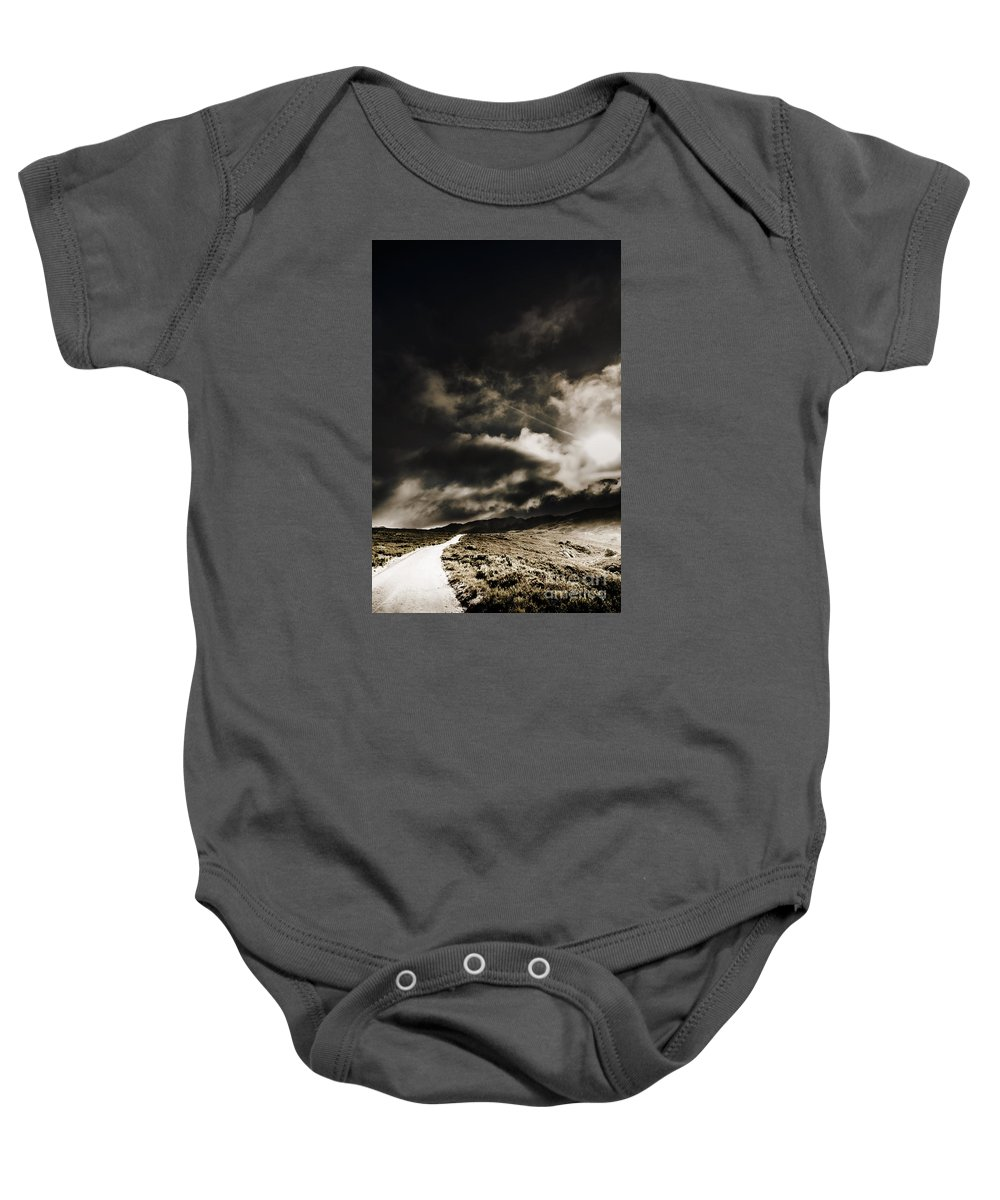 Atmospheric Baby Onesie featuring the photograph Roads Of Atmosphere by Jorgo Photography - Wall Art Gallery