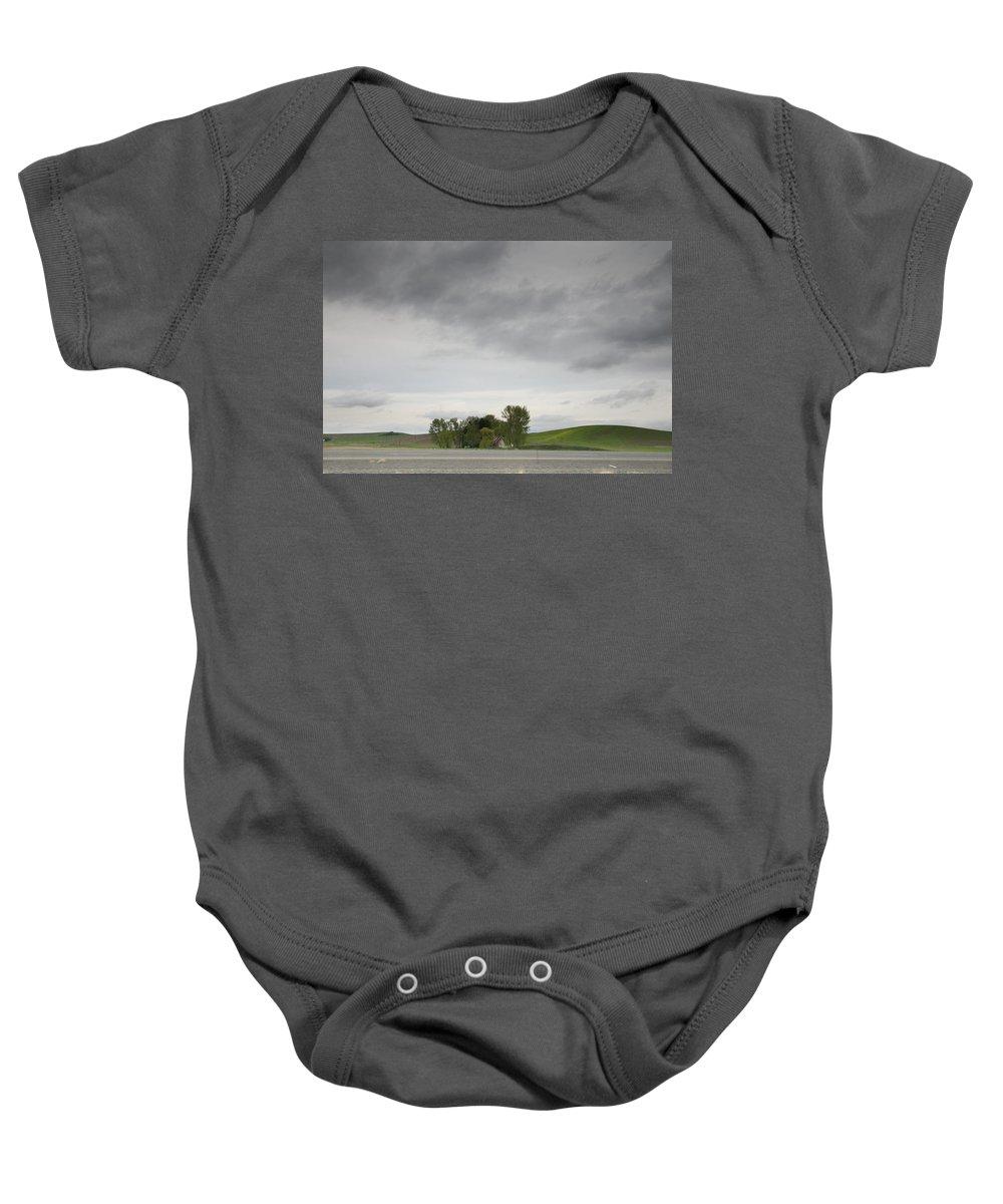 Farm Baby Onesie featuring the photograph Roadside Farm by Darryl Patrick