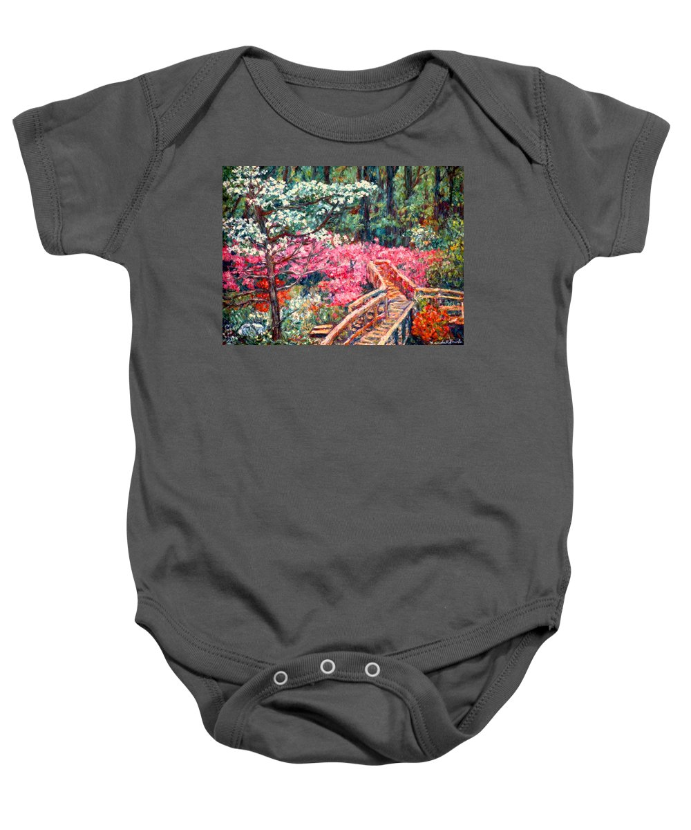 Garden Baby Onesie featuring the painting Roanoke Beauty by Kendall Kessler