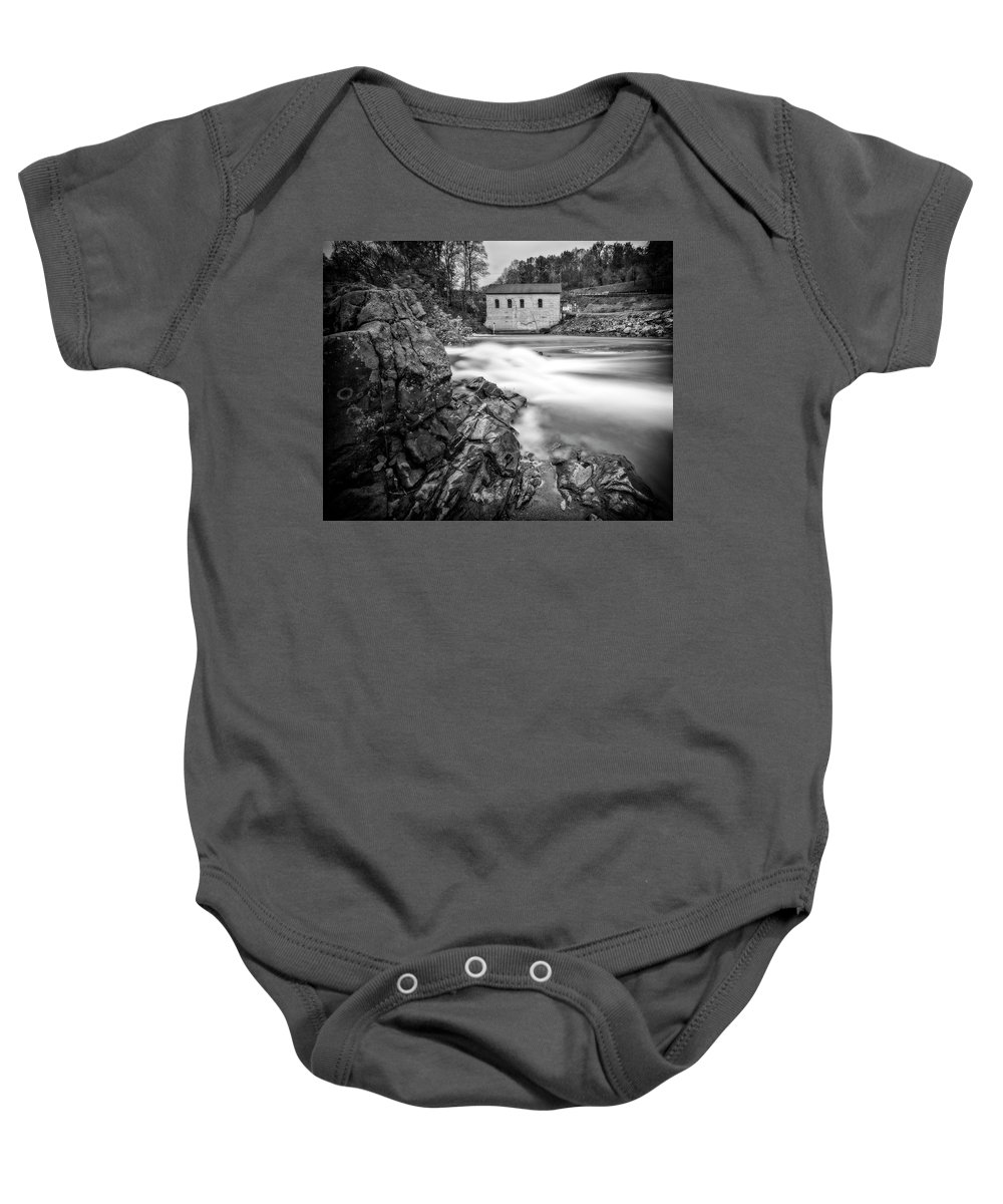 Roanoke Baby Onesie featuring the photograph Roanoke River Flow by Alan Raasch