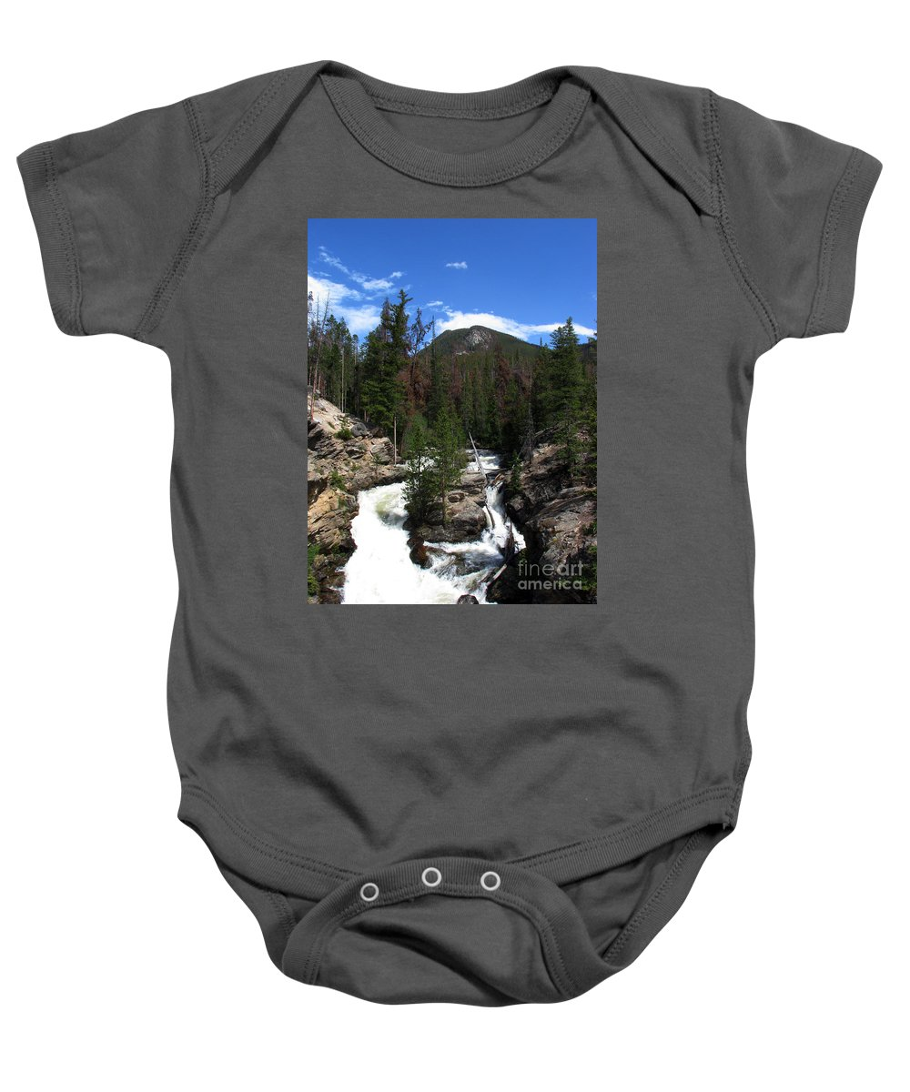 Colorado Baby Onesie featuring the photograph Roar by Amanda Barcon
