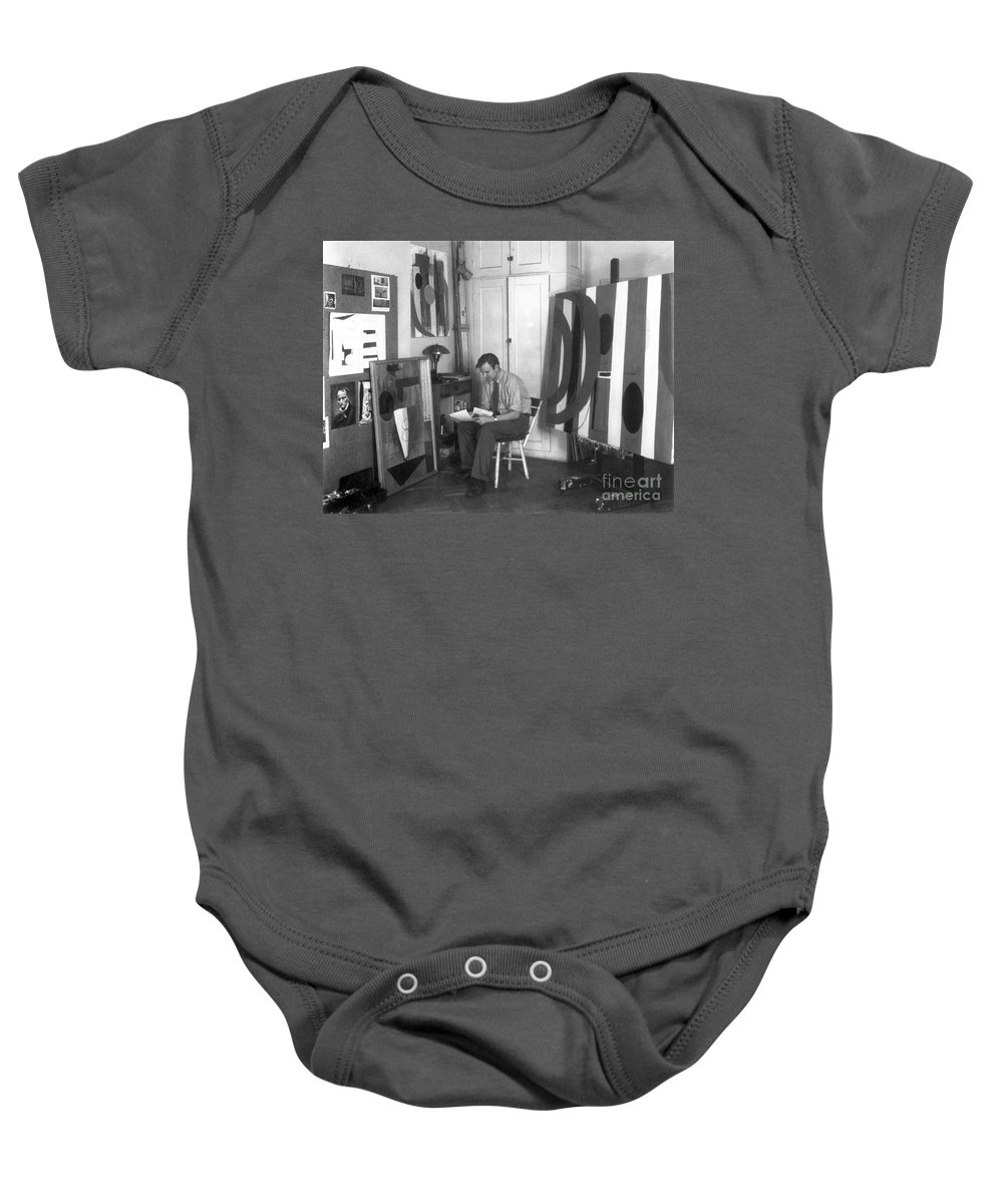 20th Century Baby Onesie featuring the photograph Robert Motherwell by Granger