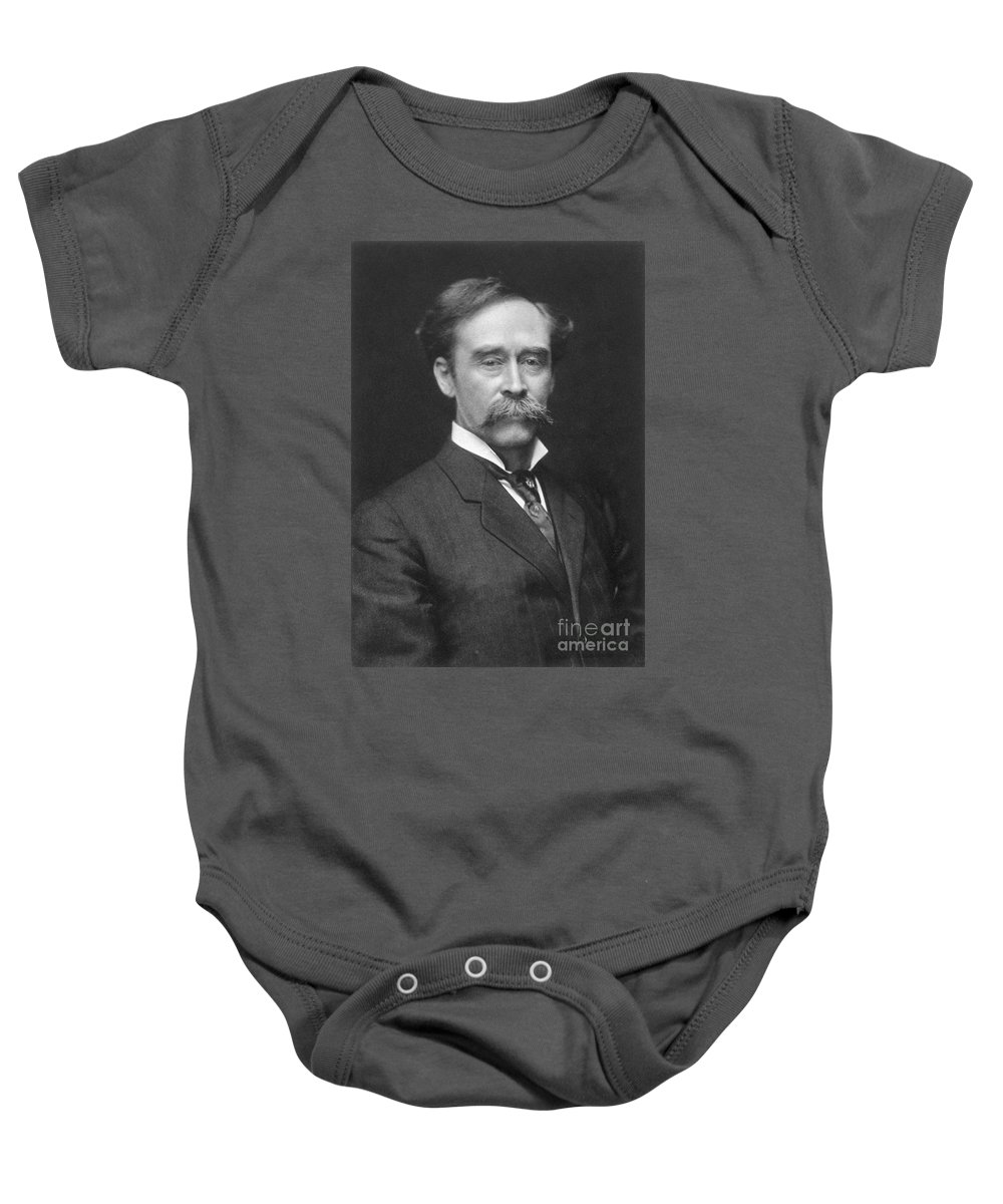 1910s Baby Onesie featuring the painting Robert Peary (1856-1920) by Granger