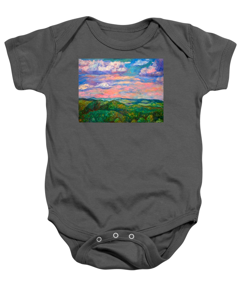 Landscape Paintings Baby Onesie featuring the painting Rock Castle Gorge by Kendall Kessler