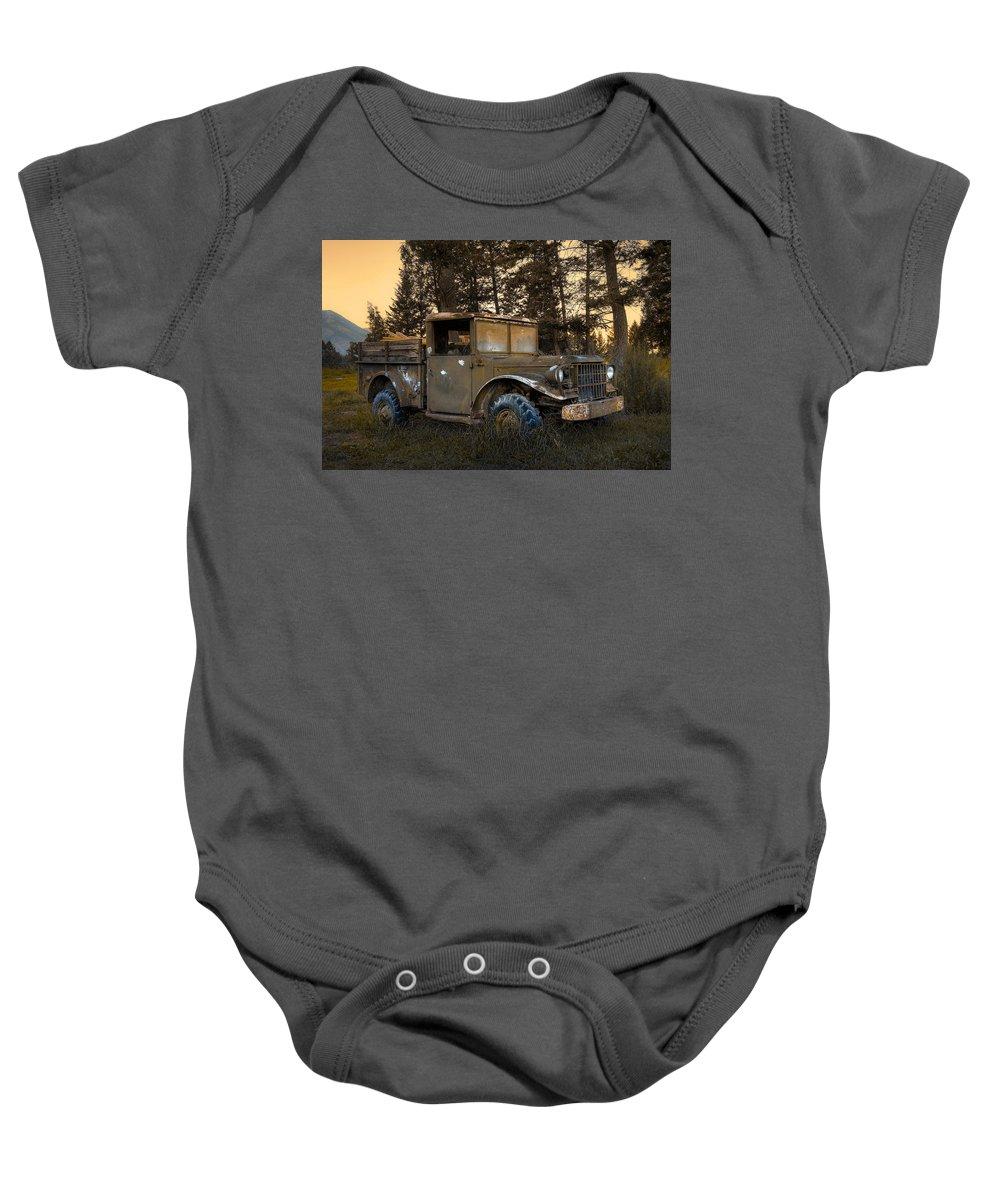 Rockies Baby Onesie featuring the photograph Rockies Transport by Wayne Sherriff