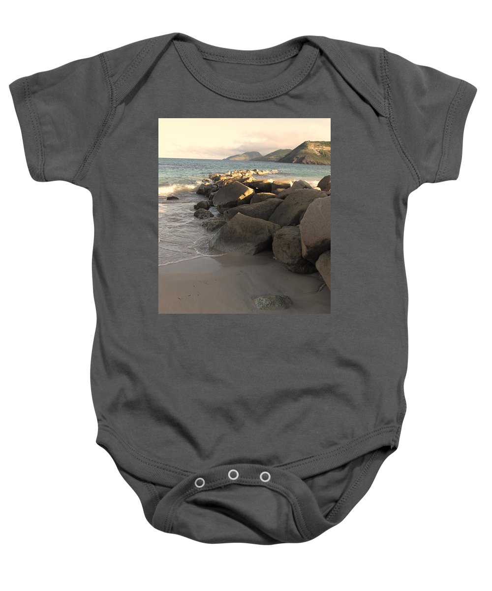 Boulders Baby Onesie featuring the photograph Rocks And Hills by Ian MacDonald