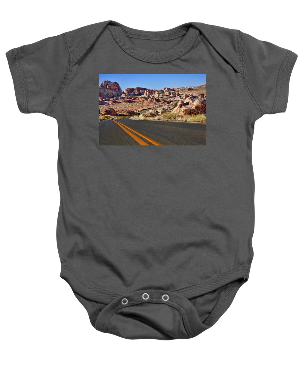 Rocks Baby Onesie featuring the photograph Rocky View by Kelley King
