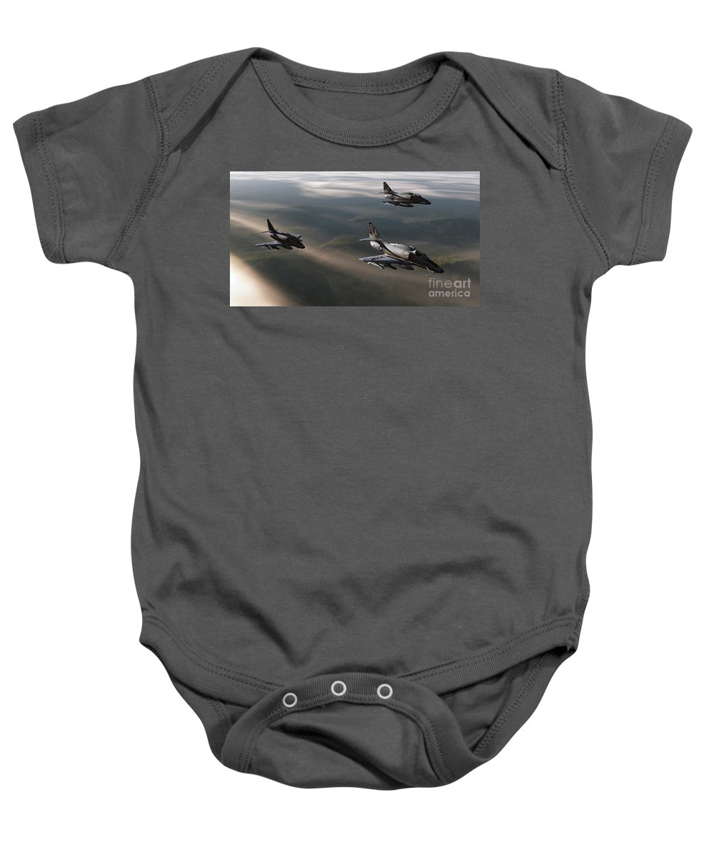 Aviation Art Baby Onesie featuring the digital art Rolling Thunder by Richard Rizzo