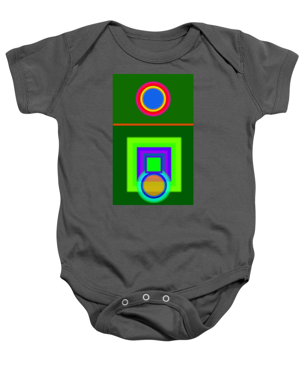 Classical Baby Onesie featuring the painting Roman Green by Charles Stuart