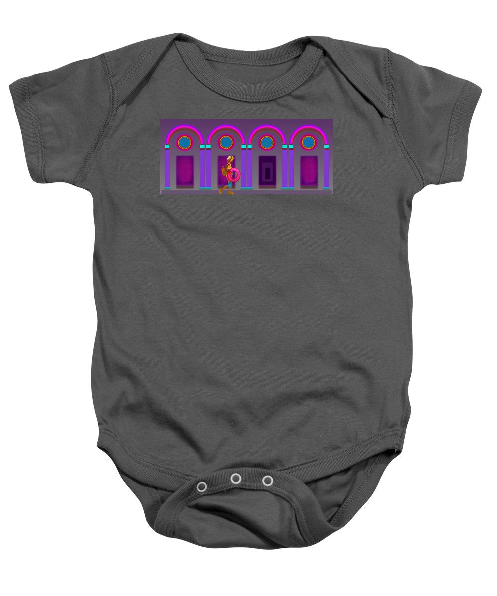 Classical Baby Onesie featuring the painting Roman Holiday by Charles Stuart